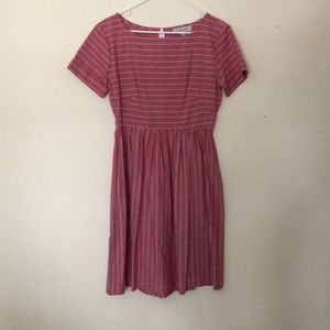 Shabby Apple Red and white stripped a-line dress